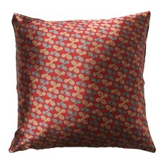 """Handmade RADOST Throw Pillow $54 * PINE CONE (RED) * Removable insert; washable cover * Material: Minky (100% polyester) * Dimensions: 16"""" high x 16"""" wide * Pillow cover care instructions: Machine wash cold and line dry; do not bleach."""