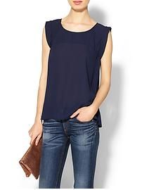 Nothing is cooler than a solid navy blouse, relaxed jeans, and a simple clutch.  add a statement necklace and perfection!  Find great looks like this at Goldy + Mac - now oppen on the UES - for around $60.  www.goldyandmac.com  #shopnyc #uesboutiques #springmusts