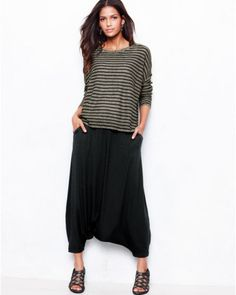 Eileen Fisher Viscose Jersey Harem Pants - Regular