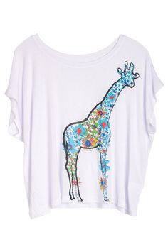 dELiAs > Giraffe Flowers Tee > tops > view all tops