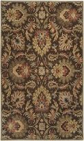 Caesar Collection Floral Hand Tufted Wool Area Rug (CAE-1028) - Traditional Rug for Green Nursery