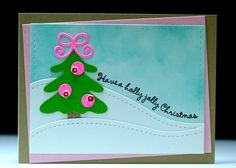 Christmas in July - Scrapbook.com - Use non traditional holiday colors for a fun twist on a handmade Christmas card.