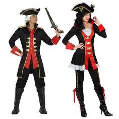 Pareja Disfraces de Capitanes Piratas #parejas #disfraces #carnaval