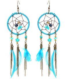 https://www.goedkopesieraden.net/Oorbellen-lichtblauwe/turquoise-dromenvanger-met-veertjes