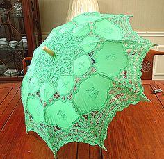 Parasol Christmas Green