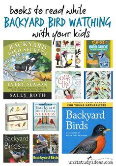 Books to Read while Backyard Bird Watching with your Kids @ UnitStudyIdeas.com #backyardbirds