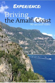 Ready for breathtaking views and an adrenaline pumping ride? Hop on and join us on this 90-second ride on the Amalfi Coast. Just hang on tight!! http://www.browsingitaly.com/campania/amalfi-coast/amalfi-coast-drive-video/3566/