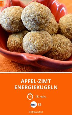 21 Day Fix Snack day fix snacksApple cinnamon energy balls - healthy and sugar-free snack This apple cinnamon .Apple cinnamon energy balls - healthy and sugar-free snack These apple cinnamon energy balls are a Vegan Energy Balls, Energy Bites, Vegan Desserts, Raw Food Recipes, Snack Recipes, Healthy Sweets, Healthy Snacks, Eat Smarter, Healthy Meal Prep