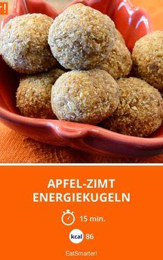 Apfel-Zimt Energiekugeln | Kalorien: 86 Kcal - Zeit: 15 Min. | http://eatsmarter.de/rezepte/apfel-zimt-energiekugeln