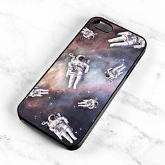 Astronaut Pattern Case for iPhone 4 4s Space by MintPrintCases