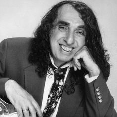 """Today in 1996, Tiny Tim (Herbert Khaury) died from a heart attack on stage singing his hit """"Tiptoe Through the Tulips"""""""