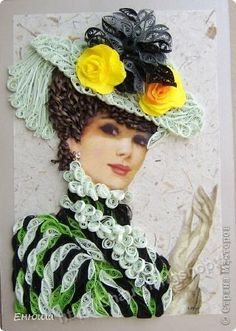 quilling art: female characters in the wonderful paper art - crafts ideas - crafts for kids Quilled Paper Art, Paper Quilling Designs, Quilling Paper Craft, Quilling Patterns, Diy Paper, Paper Crafts, Art Crafts, Origami, Arte Quilling