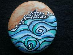 Mandala Painting, Pebble Painting, Dot Painting, Pebble Art, Stone Painting, Stone Crafts, Rock Crafts, Arts And Crafts, Pebble Stone