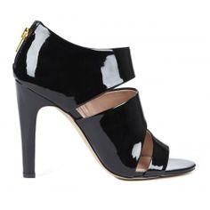 Kristen open toe heel - Black