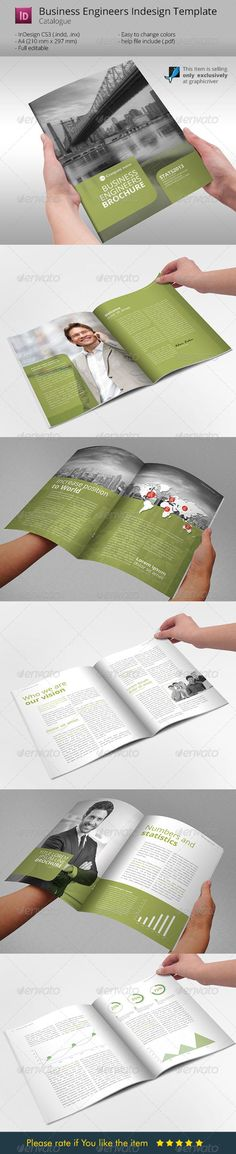 Download This Item: http://graphicriver.net/item/business-engineers-green-indesign-template/6121871 Business Engineers Green Indesign Template