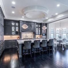 """""""Gorgeous charcoal kitchen by @castlewoodcustombuilders """""""