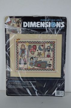 #Dimensions #Stamped #Cross #Stitch #Kit #RusticAngels #3156 #SEECONDITION #Dimensions #Frame