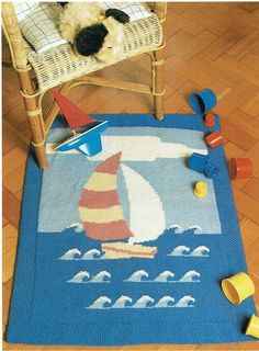 Play time for baby. Dinosaur Blanket, Star Baby Blanket, Baby Boy Blankets, Sirdar Knitting Patterns, Chunky Yarn, Baby Play, Girl With Hat, Hangers, Kids Rugs