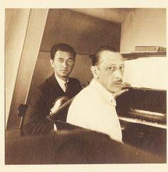 Samuel Dushkin and Igor Stravinsky, 1940s