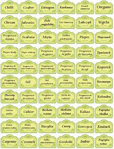 Obraz naklejki na przyprawy  etykiety spice  gewürzetiketten 1 Spice Jar Labels, Spice Jars, Making Life Easier, Kitchen Organization, Decoupage, Diy And Crafts, Spices, Clip Art, Ana White