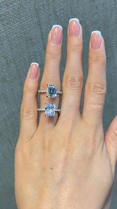 Radiant Cut Engagement Rings, Emerald Wedding Rings, Emerald Cut Engagement, Emerald Cut Rings, Beautiful Engagement Rings, Engagement Ring Cuts, Pave Diamond Rings, Asscher Cut Diamond Engagement Ring, Platinum Engagement Rings