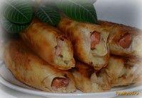 Сосиски в лаваше с картофельным пюре и сыром рецепт с фото