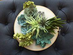Succulentes suspendu jardin / créoles art