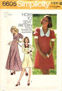 Vintage Dress Patterns, Clothing Patterns, Vintage Dresses, Vintage Outfits, Vintage Clothing, 1950s Dresses, Vintage Items, Patterned Bridesmaid Dresses, Simplicity Sewing Patterns