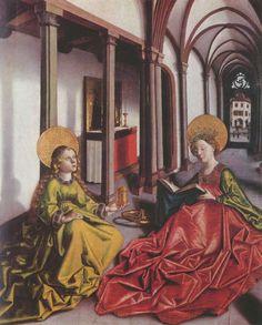 Witz, Konrad: Marienaltar, Szene: Die Heiligen Katharina und Maria Magdalena; around 1440