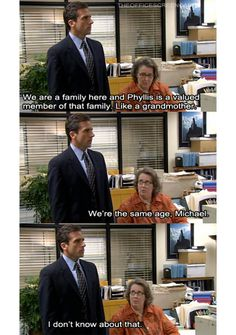 Michael and Phyllis ~ The Office