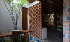 Uncle's House by 3 Atelier « Inhabitat – Green Design, Innovation, Architecture, Green Building Design Exterior, Brick Design, Interior And Exterior, Architecture Design, Tropical Architecture, Atelier Photo, Casa Patio, Compact House, Brickwork