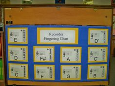 This Is A Pdf File Of A Black And White Recorder Finger Chart I