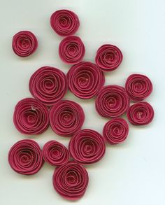 Love these paper flowers! And this shade of cranberry red.