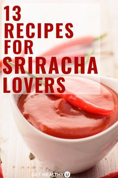 If you're Sriracha-obsessed, you'll love these 13 yummy, spicy recipes! Best Dip Recipes, High Protein Recipes, Spicy Recipes, Whole 30 Recipes, Healthy Breakfast Recipes, Healthy Recipes, Salad Recipes, Favorite Recipes, Sirracha Recipes