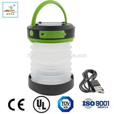 Rechargable Folding Silicone Solar Powered USB Rechargeable Waterproof Telescopic LED Camping Lantern