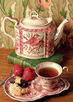 tea, books, snacks