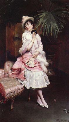 Lady With A Mask (Raimundo de Madrazo y Garreta - )