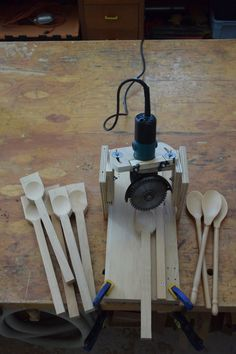 spoon carving jig