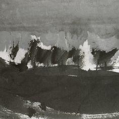 """Gao XINGJIAN. """"Le Chant du vent"""".   59,5 x 59 cm. 2009. Encre de Chine sur papier"""