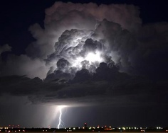 Thunderstorm - light show - nature's firework display in July south of Carlsbad, NM -waynesworld photography