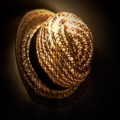 bandyopadhyay_interiorMY NIGHTLAMP - straw hat beige sorounded by used textile black on natural nordic brown sparkles hexagonian drops of light on my lazy midnight soul bandyopadhyay_interior By Using, Sparkles, Lazy, Textiles, Colours, Beige, Natural, Brown, Interior