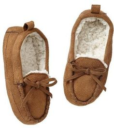 Moccasin slippers, $16.96