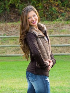 The Chill Of An Early Fall Sweater. This fur sweater is super cute and so soft! You will be stylin' fur sure!