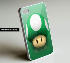 Mario Mushroom Video Game - iPhone 4 Case,