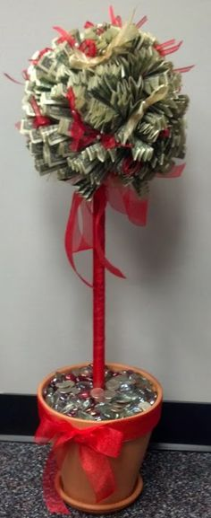 Progress photos make money tree christmas pinterest money made this money tree for a retirement gift negle Choice Image