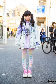Nadia Harajuku Cat, Flower Harness, Heart Tights & See-Thru Backpack (Tokyo Fashion, 2015)