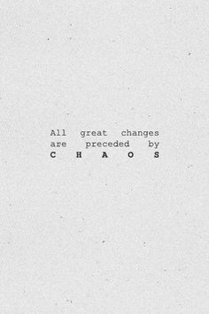 Great changes.