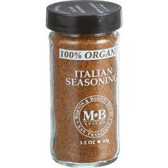 Morton and Bassett 100% Organic Seasoning Italian Seasoning 1.5 oz Case of 3