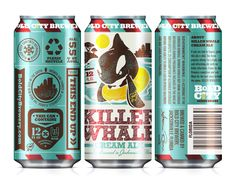Killer Whale | #packaging #can