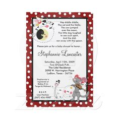 Mother goose nursery rhyme baby shower invitations party 5x7 hey diddle didd nursery baby shower invitation from zazzle filmwisefo